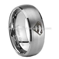 superman wedding ring superman tungsten ring with white signet rings tungsten carbide