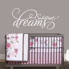 Wall Nursery Decals Shop All Decals Nursery Wall Decals Sweetest Dreams Scripted