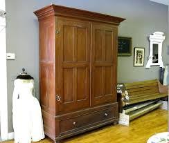 storage armoire with shelves wardrobes espresso wardrobe closet