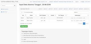 cara membuat halaman utama web dengan php aplikasi absensi siswa dengan php dan mysql