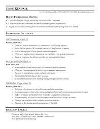 food service resume hostess resume host hostess resume sle unforgettable host