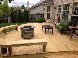 two level deck with bench the great outdoors pinterest