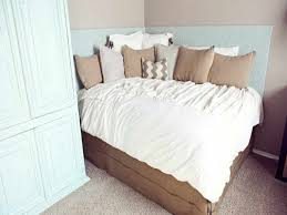 Bed Headboard Ideas Saving Small Bedroom Spaces With Diy Corner Bed With Custom