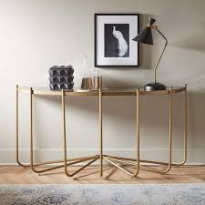 Entry Console Table Gold Glass Top Dramatic Console Table