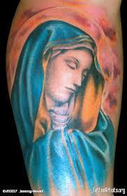 amazing painting like virgin mary tattoo art christian tattoos