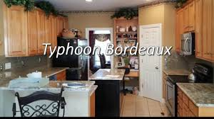 typhoon bordeaux granite with 3 x 8 almond glass backsplash youtube