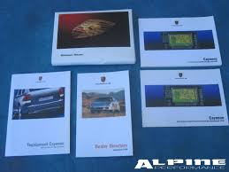 origianal porsche cayenne 955 owners manual set books case manuals