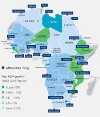 Africa Map With Cities by Consumers Of Tomorrow Uhy International