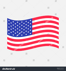 American Flag Upside Down Waving American Flag Icon Isolated Whte Stock Vector 440895874