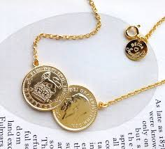 necklace coin images Double sixpence coin necklace by becca jewellery jpg