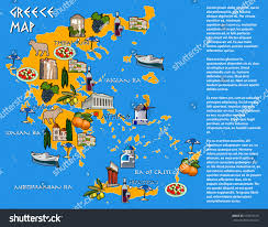 Map Of Greece by Map Greece Icons Main Sights Place Stock Vector 523957618