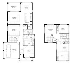 adorable standard 3 bedroom house plans in double storey 4 bedroom