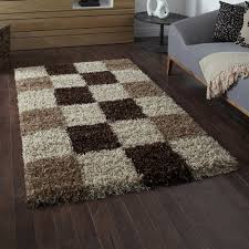 Black Modern Rugs Vista 2247 Brown Check Modern Rug