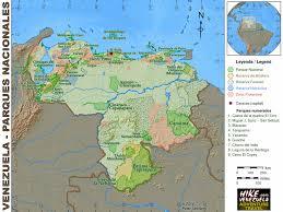 Venezuela World Map by Venezuela U2013 Maps Hike Venezuela Com