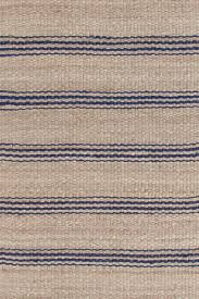 Dash And Albert Outdoor Rugs by Indigo Blue U0026 Tan Striped Jute Rugs Dash U0026 Albert Jute Ticking