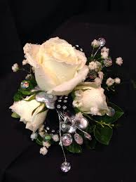 black and white corsage black and white corsage with bling williamsburg floral