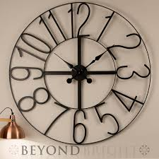 huge wall clocks large metal wall clock roman numerals