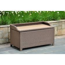 Outdoor Storage Ottoman Bench Great Woven Storage Bench Wicker Storage Ottoman Roselawnlutheran