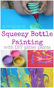 squeezy bottle painting the imagination tree