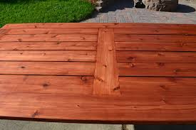 Outdoor Patio Table Plans Free by Ana White Beautiful Cedar Patio Table Diy Projects