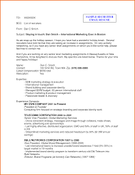 Email For Sending Resume And Cover Letter Resume For Recruiter Resume For Your Job Application