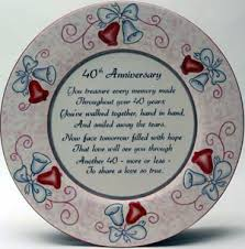 anniversary ornament buy 40th anniversary ornament welcome home plates from a large