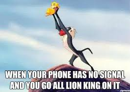 Lion King Cell Phone Meme - ryansaveragelife on humour laughter and stuffing