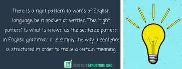 sentence pattern in english grammar basic sentence pattern in english grammar