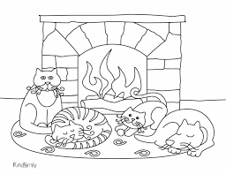 printable coloring pages winter landscape coloring pages free