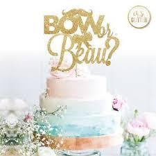 gender reveal cake toppers gender reveal cake topper baby shower glitter he she cake boy or