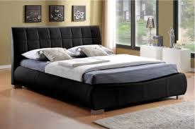 King Size Leather Bed Frame Home Design 85 Wonderful Black Leather Bed Frames