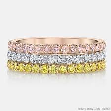 color wedding rings images Angelina set of 3 tri color diamonds wedding bands set jpg