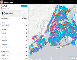 High Line New York Map by Interactive Map Shows The High Stress Biking Areas Throughout New