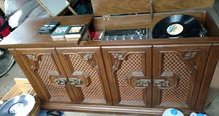 Antique Record Player Cabinet Hidden Treasure Inside Vintage Record Player Radio 8 Track Player