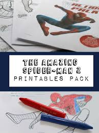free printable spiderman colouring pages activity sheets