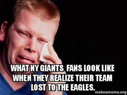 Ny Giants Memes - what ny giants fans look like when they realize their team lost to