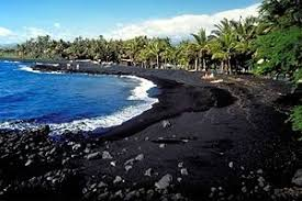 black sand beach big island black sand beach at punalu u the world spins madly on