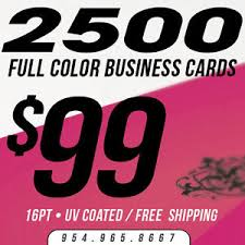 Full Color Business Card Printing 2500 Business Cards Printing Custom 16pt Uv Gloss Ultra