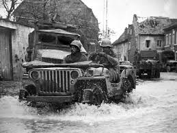 Off Road Tire Chains An Allied Willys Jeep Seen Sloshing Through Water With Snow Chains