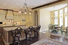 classic kitchen design island for eight