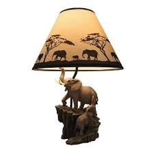 27 inch bronze elephant table lamp free shipping today