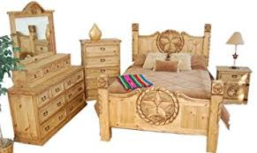 Western Bed Frames Rustic Western Size Lone Bedroom Set