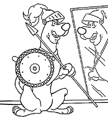 scooby doo soldier coloring page scooby doo pinterest