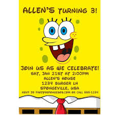 spongebob invitation template u2013 diabetesmang info