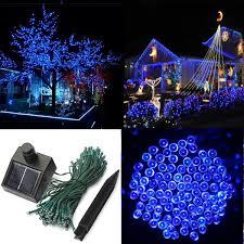 100 led solar powered string light for decoration