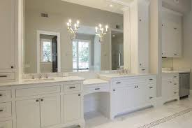 Lighting On Bathroom Mirror Design Ideas - White cabinets bathroom design