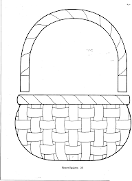 empty basket coloring page 28 cool easter basket coloring pages