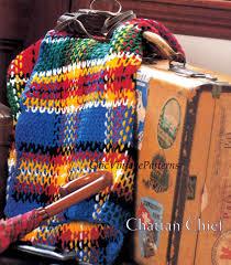 tartan afghan pattern crochet rug by chicvintagepatterns