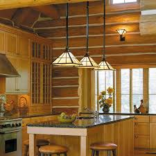 mission kitchen island rustic kitchen island lit with mission pendants brass light gallery