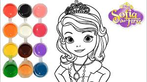 draw u0026 color sofia princess drawing